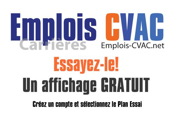 Essai Gratuit, publiez une offre sur Emplois-CVAC.net