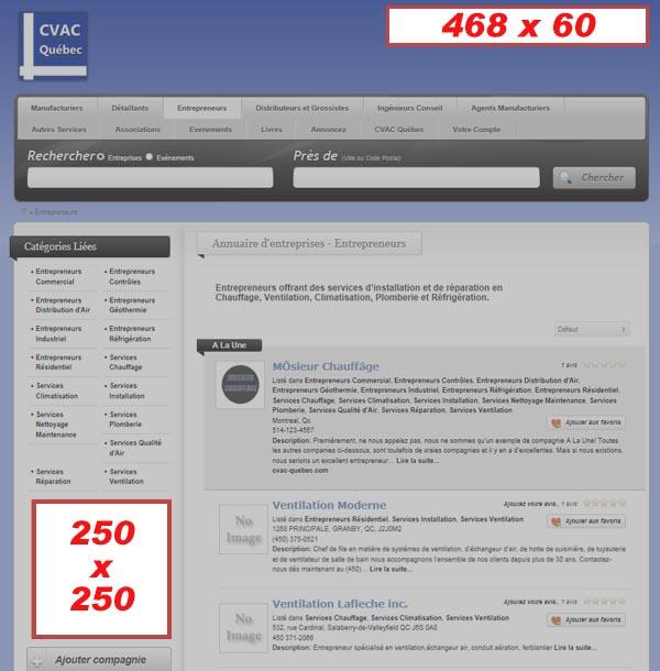 Options de Banderoles Publicitaires sur CVAC Quebec