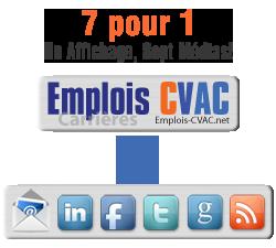 Emplois-CVAC.net, affichage d'offres d'emplois sur multiples plateformes en simultané